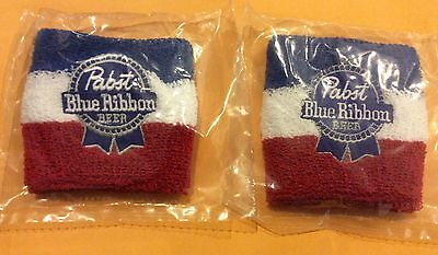Pabst Blue Ribbon 2 stretchy wristbands - new - PBR