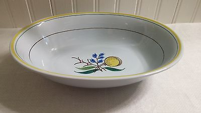 Vintage Arabia of Finland Handpainted Pottery Windflower Large Oval Serving Dish