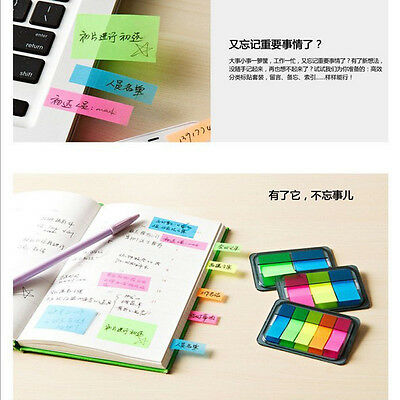 Colorful Sticky Post Notes Paper Diary Notebook Memo Tab Note Book Office
