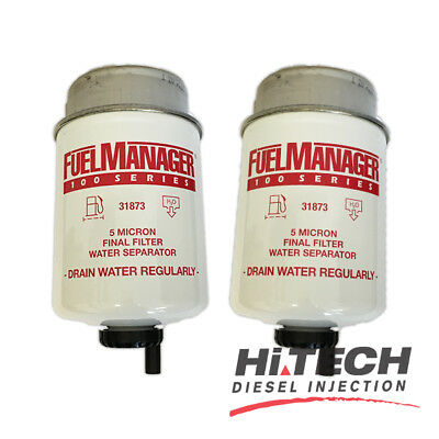 *2 pack* Fuel Manager Replacement Diesel  Filter Element 5 Micron 31873