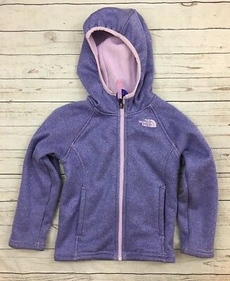 The North Face Toddler Girls Size 4 4t Purple Pink Oso Fleece Jacket Fall Winter