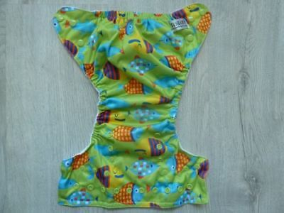 1 Sunbaby 4.0 One Size Pocket Cloth Diapers Cover without Insert (Size 2) Fish