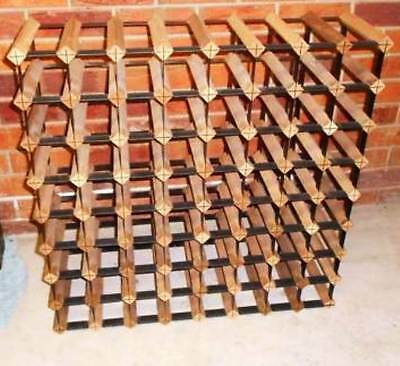 Bordex Monterey 72 Bottle Solid Timber Wooden Wine Rack Cellar FULLY ASSEMBLED