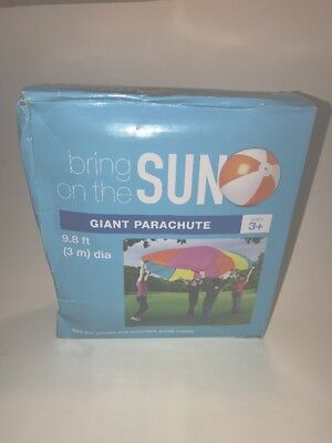 Giant Outdoor Parachute Games Activities May Day Field Day  9.8 Feet Multicolor