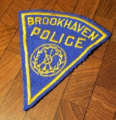 Rare Vintage Defunct 1959 Town Of Brookhaven LI, NY Police Patch