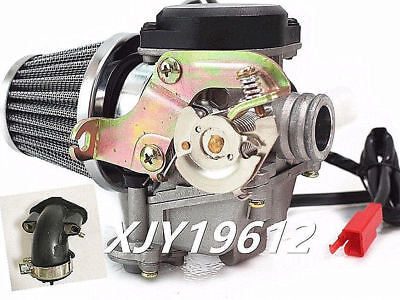 20mm 139 QMB GY6 50cc Carburetor With Intake Boot Air Filter Scooter Moped