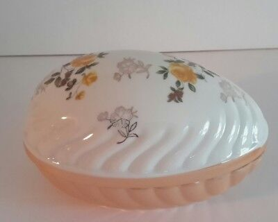 "Luster Ware 2 pc Porcelain Covered Egg 5 1/4"" Long"