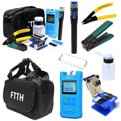 Fiber Optic FTTH Tool Kit Optical Fiber FC-6S Cleaver Visual Finder Locator USA
