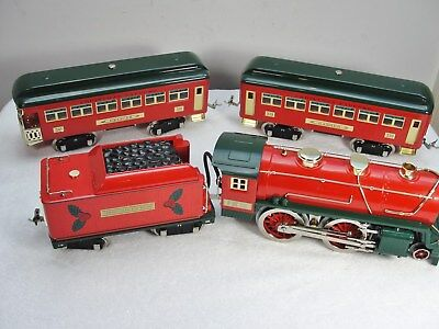 MTH 10-1211-1 Christmas Express No. 384 Passenger Set PS 2.0 Gorgeous  339 & 341