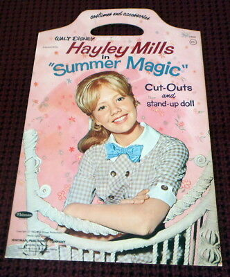 Vintage Paper Doll Book Walt Disney Hayley Mills in Summer Magic Whitman Uncut