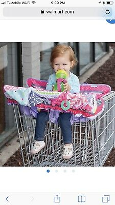 Infantino 2 In 1 Convertible Shopping Cart Cover High Chair Pink Purple Girls