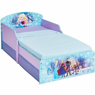 Disney Child Bed with 2 Drawers Frozen Toddler Sleeping Cot Bedroom WORL234024