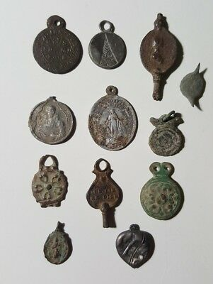 Ancient Roman, Medieval pendants. Artifacts.