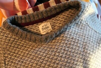 Mini Boden Toddler Wool Sweater in Grey (Size 3 - 4)