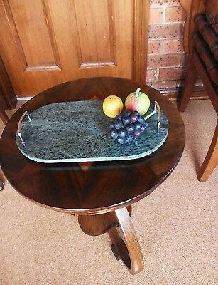 Beautiful Green Marble Art Deco Look Cheese Board/Tray