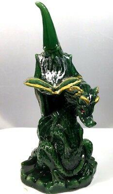 Wizard with Dragon Candle, Green, Spellbook, Wick Never Lit, Dragon has Red Eyes