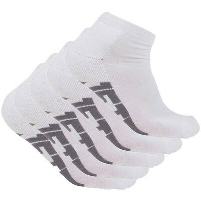 Jetpilot NEW Mx Corp White Mens Ankle OSFM Sports Socks 5 Pair Pack