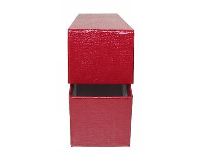Red 2x2x9 Storage Box with 100 Quarter Coin Holders Flips, Single Row
