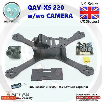 QAV-XS 220mm Carbon Fiber Racing Quadcopter Frame 4mm ARMS w/wo Camera - QAV-R