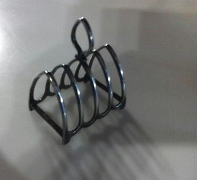 ANTIQUE/VINTAGE:Silver Plate EPNS A1 Gothic Style TOAST RACK-HARDY BROS ENGLAND