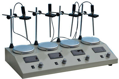 Lab Use 4Head Magnetic Stirrer with Hotplate 110V 1000ml Luquid Mixer FREE SHIP