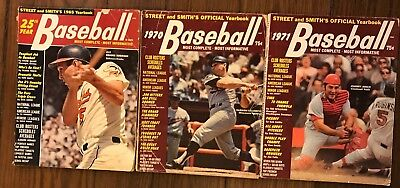 3 Street And Smith's Baseball Yearbook Magazines