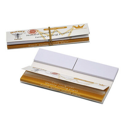 5 X Hornet Hemp Unrefined with Paper Filter Tips King Size White Rolling Papers