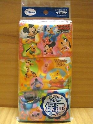 MICKEY MOUSE, Winnie the Pooh & Stitch, DISNEY Ultra Soft Facial Pocket Tissue