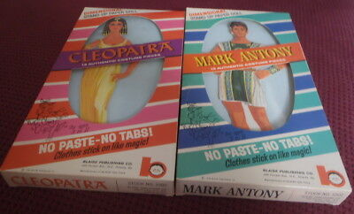 Cleopatra & Mark Antony Paper Dolls 1963 Blaise Toys Stand Up Boxed Dolls Unused