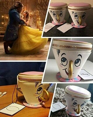 Cute Zipper Coin Purse Wallet Primark Beauty And The Beast Chip Cup Purse Bag