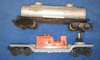 Lionel vintage lot of 2 train cars used 0-027