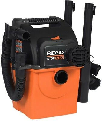 Ridgid 5-Gal Shop Vacuum Wet Dry Wall-Mount Vac Cleaner Blower Car Portable