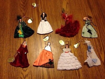 Gone With The Wind Bradford Exchange Ornaments, Set Of 8