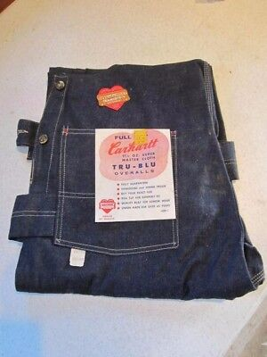 CARHARTT 1950s DENIM NEW w/ TAGS Union Made Overalls 42/30 RARE VINTAGE