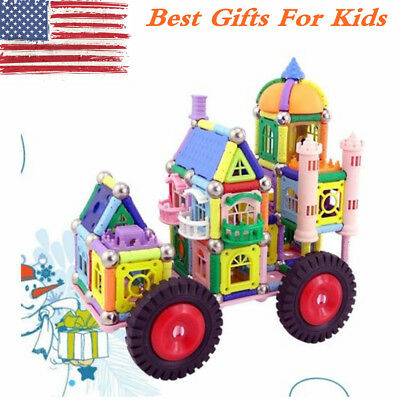 DIY 3D Magnetic Building Blocks Construction Educational Building Toys 800 Pcs