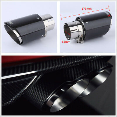 New Real Carbon Fiber Car Exhaust Tip Pipe 63mm-89mm Universal Muffler Tip Cover