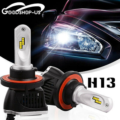 2X H13 LED Headlight Bulbs High/Low Beam Light Light 160W 16000LM White 6000K
