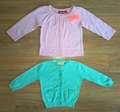 LILY & DAN & SPROUT Baby Girls Sz 1 Cardigan Jumper x 2