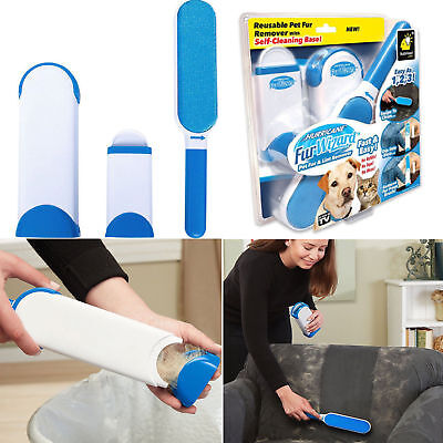 Hurricane Fur Wizard Pet Fur & Lint Remover Travel Size hair Cleaner Brusher