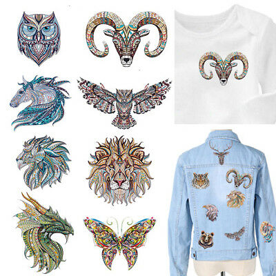 Hot Animal Patch Iron-on Transfers Washable Stickers Print On T-shirt Dress