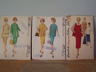 Lot Of 3 Vintage Maternity Sewing Patterns - Simplicity & Mccalls - Size 12 & 14
