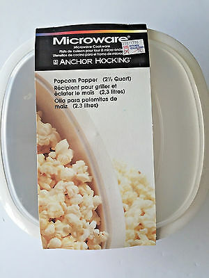 Vintage Anchor Hocking Microware Microwave Popcorn Popper Bowl Beige