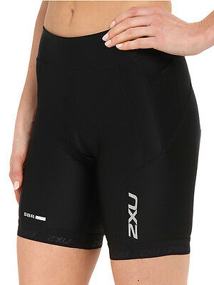 New 2Xu Tri Shorts Women Perform Xs  Triathlon Training Cycling Sport Black