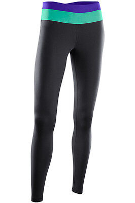 New 2Xu Form Twin Trim Tights Women M Yoga Black Leggings Training Fitness