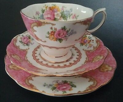 Royal Albert Lady Carlyle Trio Original 1940's Perfect 855022