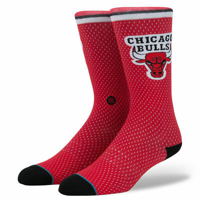 Chicago Bulls Stance NBA Jersey Casual Crew Socks - Red