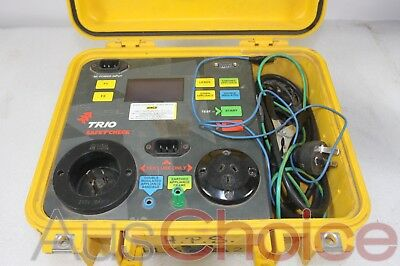 Trio Safe T Check PAT Electric Portable Appliance Safety Tester Test & Tag