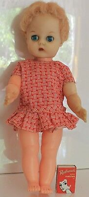 1950s Evergreen Doll Strawberry Blonde Hair Close Open Blue Eyes Vintage Dolly