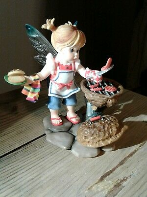 "ENESCO Little  Kitchen Fairies ""Father's Day Cookout"" 2008  4 3/8"" H."
