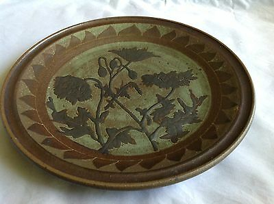 Malcolm Boyd '82 Signed Large Pottery Platter.